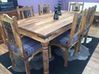 Jali Sheesham dining table & 6 chairs