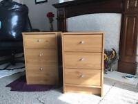 2x Argos bedside cabinets (pine effect)