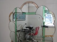 Fabulous 1920S ART DECO multi-coloured MIRROR 56 inches tall by 54 inches wide GREAT CONDITION