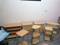 7 piece office furniture set