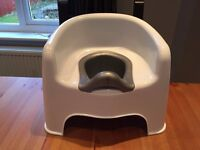 High-backed potty with removable insert Excellent condition