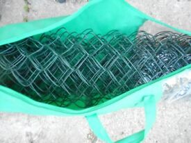 green covered plastic link chain fence