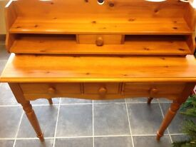 SOLID PINE DESK WITH DOVETAIL JOINTS