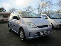 2003 daihatsu charade el mot till 10th january 2018 full service history only £30 tax a year low