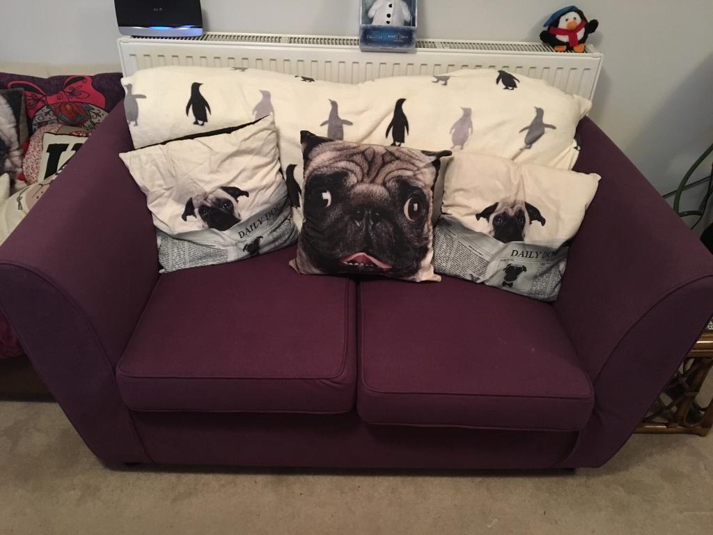 Purple Sofa 2 Seater | in Stourbridge, West Midlands | Gumtree