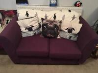 Purple Sofa 2 Seater