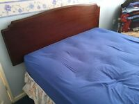 Double divan bed with storage drawers and mattress - nearly new