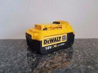 DeWALT 18V XR Li-ion 4ah battery(USED),Makita bosch hitachi hilti