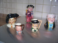 Collectibles, Vintage Antique Toby Jugs and Coronation Memrobilia For Sale