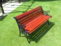 Cast iron ends and wooden bench
