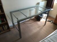 Glass desk with frame for sale