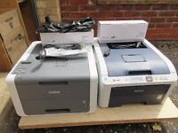 2 Brother colour laser printers spares or repair HL3040-CN & Wireless HL3140-CW