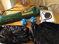 Camping gear for sale Gas 2x single air beds + foot pump 1x Outdoor off-floor camping bed £10