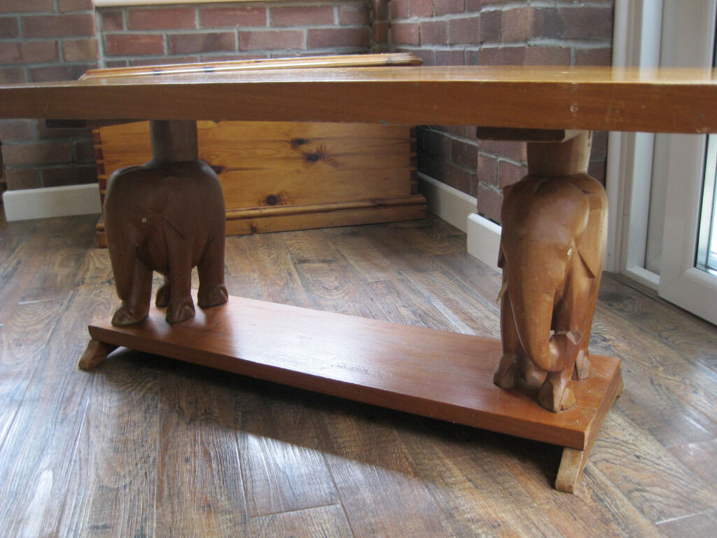 Hand Carved Solid Wood Coffee Table In Denmead Hampshire Gumtree