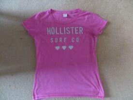 Hollister Pink tee shirt Size Medium