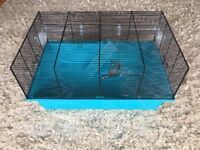 Hamster Cage Multi level wire & plastic free water bottle good condition