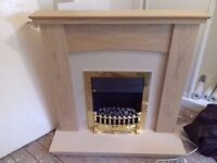 Wooden Fire and Fire place
