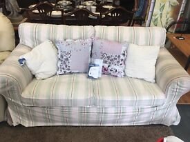 2 seater striped sofa REDUCED