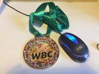WBC boxing world title medal