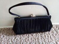 John Lewis Black Clutch Bag
