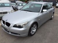 2005/05 BMW 5 SERIES 2.5 525i SE 4 DOOR AUTOMATIC SILVER,LOW MILEAGE,BMW SERVICE HISTORY,HIGH SPEC