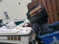75hp mariner outboard engine also Fletcher boat and trailer