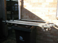 Rhino Roof Bars with Rear Roller in Good Condition with all Fittings