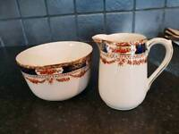 Vintage Milk jug and Sugar bowl