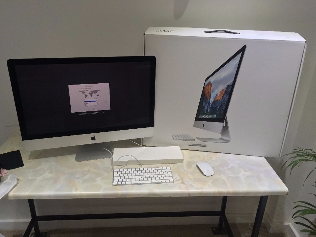 "Apple iMac 27"" Late 2015 5k Retina 3.2GHz Quad Core i5 1TB Fusion Drive R9 M390in Wakefield, West YorkshireGumtree - Apple iMac Late 2015 27"" 5k Retina 3.2GHz i5 Quad Core, 8GB RAM, 1TB Fusion Drive, AMD Radeon R9 M390 graphics, OS X Sierra. As new / immaculate condition all round (see photos). It comes with genuine apple wireless keyboard 2 and magic mouse 2...."