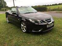 2008 08 PLATE SAAB 9-3 1.9 TTID 180 BHP AERO CONVERTIBLE IN BLACK