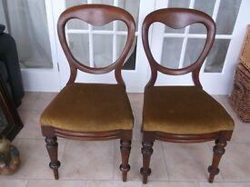 2 Vintage Balloon Back chairs