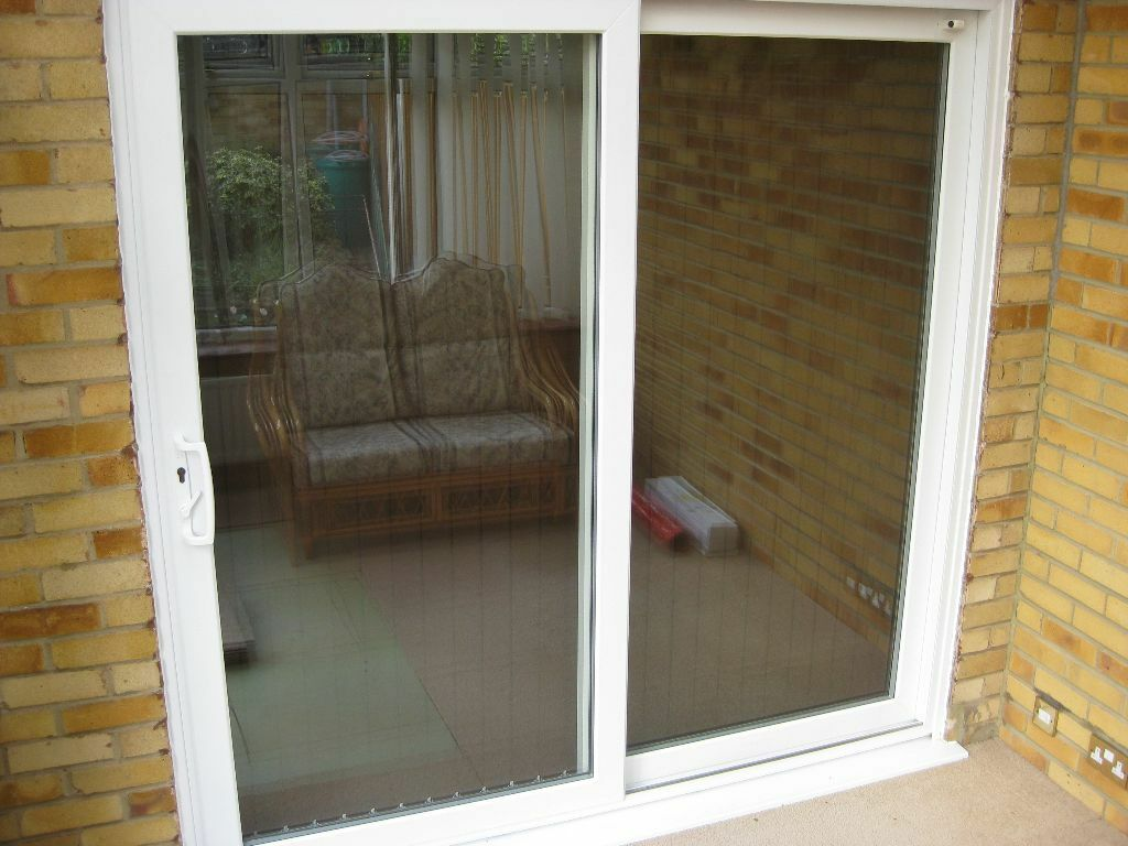 White upvc sliding patio doors in swanley kent gumtree for Upvc balcony doors
