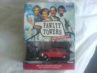 BBC FAWLTY TOWERS DVD SET PLUS CORGI CAR AND FIGURE