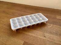 White Plastic Ice Cube Tray