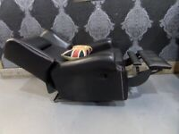 Immaculate Saxon Chesterfield Recliner Chair in Black Leather - Uk Delivery