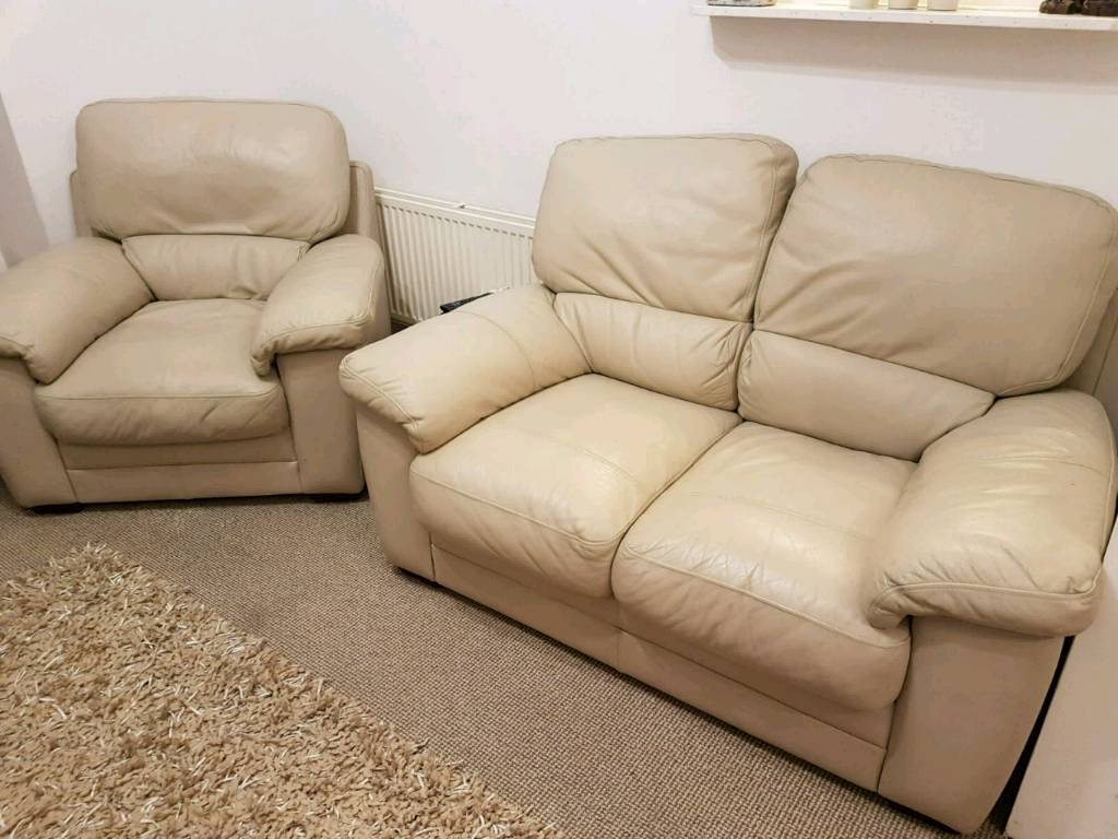 Small 2 seater and armchair
