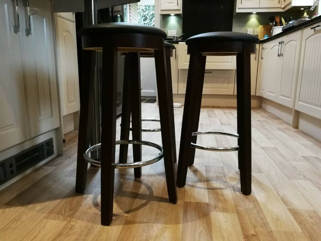 Three Wooden Kitchen Bar Stools   in Bursledon, Hampshire ...