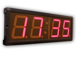 EU 4 4 Digits LED Countdown Clock stopwatch Red Color With Remote