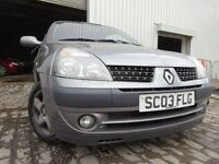 03 RENAULT CLIO 1.2,MOT JUNE 017,PART HISTORY,3 OWNERS,VERY RELIABLE SMALL CAR,DECENT SMALL CAR