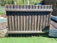 5 x Featheredge Wooden Fencing Panels - various dimensions