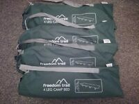 4 brand new camping beds