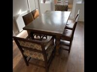Solid oak dining table extends 6 chairs vgc can deliver
