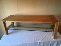 Marks & Spencer Sonoma Oak Coffee Table With Glass Shelf