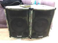 Soundlab PA Speakers (with optional amp)