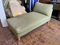 x2 Green Fabric Day Bed / Couch / Chair