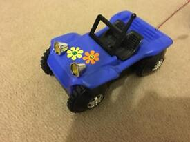 Blue electric toy car