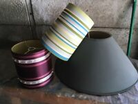 3 Lampshades for £5