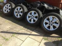 TOYOTA PERVIA ESTIMA 2006 ALLOYS WHEELS WITH TYRES JDM 215/60/16.