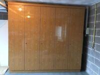 Large 5 Door Brown Wardrobe