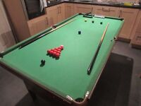6' x 3' Snooker & Pool Table